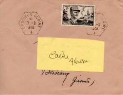 Croiseur Gloire Lettre Du17/9/1948  Pour Bordeaux 33 - Brieven En Documenten