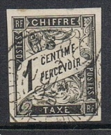 COLONIES GENERALES TAXE N°1 Oblitération D' Obock - Postage Due