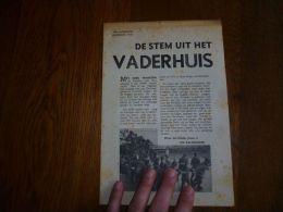 CB2 Petit Imprimé De Stem Uit Het Vaderhuis Oorlog Guerre 1941 Parochienieuws Van Ledeberg 17x25cm - Revistas & Periódicos