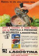 # LAGOSTINA PENTOLA A PRESSIONE 1950s Advert Pubblicità Publicitè Reklame Pot Pots Ollas Topfe - Manifesti
