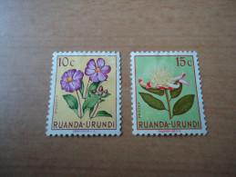 Ruanda-Urundi: 2 Werte Blumen  (1953) - Ruanda-Urundi