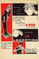 # LAGOSTINA PENTOLE E CASALINGHI 1950s Advert Pubblicità Publicitè Reklame Pot Pots Ollas Topfe Household Casa Menage - Manifesti