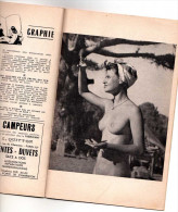 MAGAZINE NATURISTE 1952 LA VIE AU SOLEIL HOMME FEMME   NUS - Erotic (...-1960)