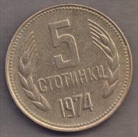 BULGARIA 5 STOTINKI 1974 - Bulgaria