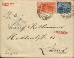 3.5.1940 £.3.75 Espresso X L'estero Genova X Zurich £. 1,25 Centenario Delle Ferrovie - Marcofilie
