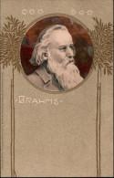 ! 1907 Postcard Johannes Brahms, Serie Altmeister Der Musik, Music, Musique, Verlag Meissner & Buch, Leipzig - Musique Et Musiciens