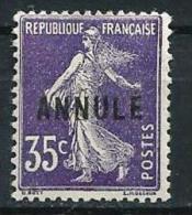 "FR Instruction YT 142-CI 1 "" Semeuse 35c. Violet Foncé "" Neuf** - Lehrkurse"
