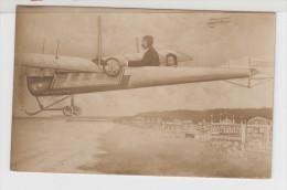 """Photo Montage, Avion """" Antoinette"""", Homme Et Enfant (flugzeug, Plane) - Photographie"""