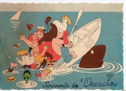 """CPSM 1961 Humouristique Souvenir D'ARCACHON """" LE DYNAMIC """"   8421 - Arcachon"""