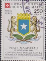 SMOM Sovereign Military Order Of Malta Mi A 6 Postal Convention With Somalia - Coat Of Arms 1984 - Malta (Orde Van)