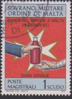 SMOM Sovereign Military Order Of Malta Mi 109 - Blood Bank - 1975 - Malta (Orde Van)