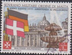 SMOM Sovereign Military Order Of Malta Mi 110 Holy Year - St Peter´s Square - Flags - Germany - Denmark - Assistance - Malta (Orde Van)
