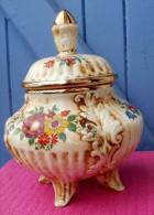 Vide Poche / Pot Couvert En Porcelaine Italienne LE TORRI - Céramiques