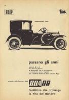 # AGIP FUEL ADDITIVE 1950s Car Petrol Italy Advert Pub Pubblicità Reklame Additivo Brewster 1921 - Transporto