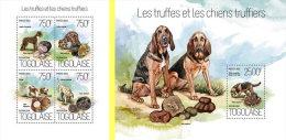TOGO 2013 ** M/S + S/S Mushrooms & Dogs Pilze & Hunde Champignons & Chiens A1418 - Pilze