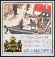 Maldives MNH Scott #2405 Souvenir Sheet 25r Queen Mother´s 100th Birthday - Maldives (1965-...)