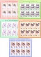 2013. Transnistria, Cats, 5 Perforated Sheetlet Of 8v Each, Mint/** - Moldavia