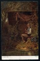 C. Spitzweg Angler - Nr. 371 ------ Postcard Not Traveled - Peintures & Tableaux