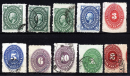 A2697) Mexico 10 Old Stamps - 10 Verschiedene Alte Marken - Mexiko