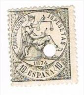 Ed. 152T 1874 10 Pts Taladrado - 1873-74 Regency