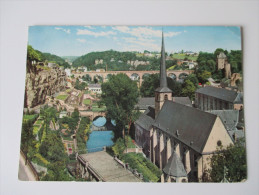 AK / Bildpostkarte 1963 Luxembourg - Rochers Du Bock Stierchen- Viaduc De Clausen - Portes De Treves - Eglise St. Jean - Luxemburg - Stadt