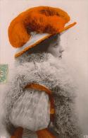 FEMMES - FRAU - LADY - MODE - Jolie Carte Fantaisie Portrait Femme Avec Chapeau à Plumes - Femmes