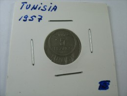 TUNISIA TUNISIE 5 FRANC 1957  LOT 18 NUM  12 - Tunisie