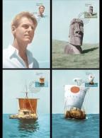 Norway 2014 - Thor Heyerdahl Centenary Maxicard Set - Unused Stamps