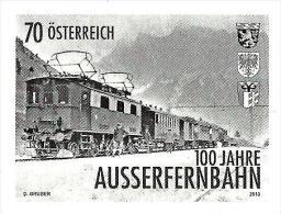 Austria - 2013 - 100 Years Of Ausserfern Railroad - Mint Stamp Proof (blackprint) - Proeven & Herdruk