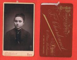 Photo Sur Plaque ( CDV ) Portrait Jeune Femme - Chardonnet, Lyon - Personnes Anonymes