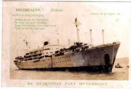 RECORDAÇÃO DO NIASSA -DA METROPOLE PARA MOÇAMBIQUE - Passagiersschepen