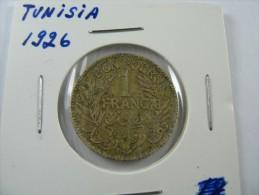 TUNISIA TUNISIE 1  FRANC 1926   LOT 18 NUM  17 - Tunisie