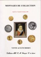 MONNAIES DE COLLECTION ANCIENNES LUXUEUX CATALOGUE DROUOT 1998 NUMISMATIQUE B.POINDESSAULT. VEDRINES VENTE AUX ENCHERES - Français