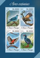 st13619a S.Tome Principe 2013 Extinct birds s/s