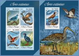 st13619ab S.Tome Principe 2013 Extinct birds 2 s/s