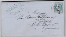 LAC   -   GC 2145 B -  LYON LES BROTTEAUX  ( 68 )   RHONE   - REF 12137 -CACHET TYPE 18 - Marcophilie (Lettres)