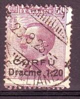 CORFU'  1923  N.  10  USATO 1  VALORE  876 - Corfou