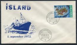 1972 Iceland Vestmannaeyjar Cover - 1944-... Repubblica