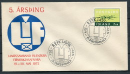 1972 Iceland Reykjavik Stamp Philatelic Exhibition Cover - 1944-... Repubblica