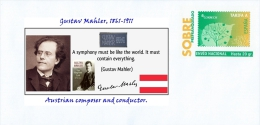 SPAIN, 2014, Classical Composers. Gustav Mahler, 1861-1911 Austrian Composer And Conductor. Musicians. - Altri