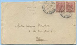 1918 POSTA MIITARE 133A (Marchese P. 6) BUSTA 14.3.18 CON  LEONI C. 10 COPPIA  TIMBRO ARRIVO E OTTIMA QUALITÀ (A282) - 1900-44 Vittorio Emanuele III
