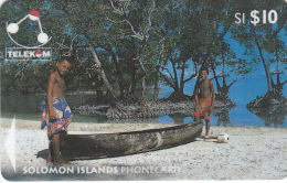 SOLOMON ISL.(GPT) - Canoe From Sikaiana/Malaita Province, CN : 03SIC, Used