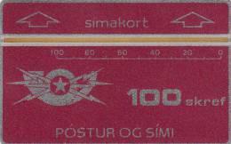 ICELAND - Telecom Logo, First Issue(1a), CN : 601A, Tirage 5000, Mint
