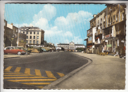 RIVE DE GIER 42 - Cours Verdun DS 19 Citroën SIMCA Versailles En 1er Plan Tube Avec Pub ECONOMATS Jolie CPSM GF - Loire - Rive De Gier