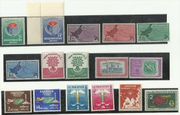 Pakistan 1960 Complete Year Pack. Map Education Medical & Agriculture University Boy Scout Jamboree Cannon Refugee CAFEA - Pakistan