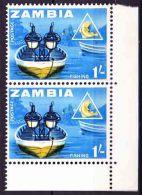 Zambia - 1964 - Definitive - Night Fishing On Lake Tanganyika - Zambie (1965-...)