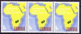 Zambia - 1969 - International Year Of African Tourism, Map Of Africa With Zambia, - Zambie (1965-...)