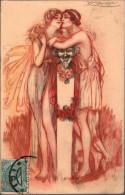 ! 1918 Künstlerkarte Sign. Mauzan,  Italien - Portugal, Zensurstempel, Censor Mark, Censure, Censura Militare - Mauzan, L.A.