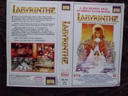 JAQUETTE - VHS - LABYRINTHE - DAVID BOWIE - SPECIMEN RESERVE A LA PUBLICITE - Sciences-Fictions Et Fantaisie