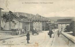 26 LES GRANGES CRUSSOL Environs De Valence Café Animée Ed Buisson Chic Tampon Militaire N° 2221 - Frankrijk